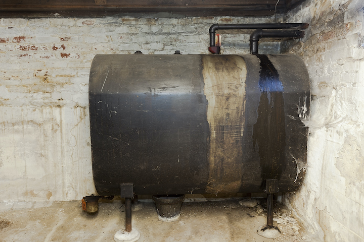 Bovengrondse mazouttank